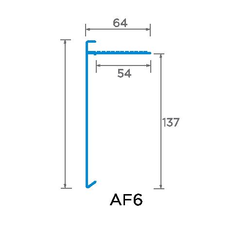150mm Face Aluminium Trim Drawing