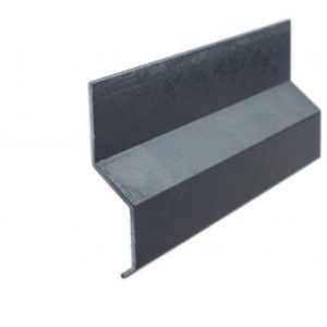 Asphalt termination bar black