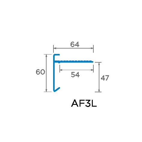 60mm Face Aluminium Trim Drawing