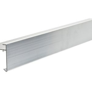 60mm face aluminium felt trim 3m Long