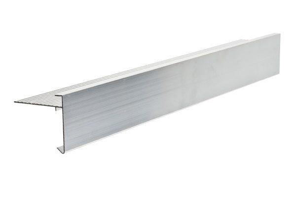 60mm face aluminium felt trim 3m Long