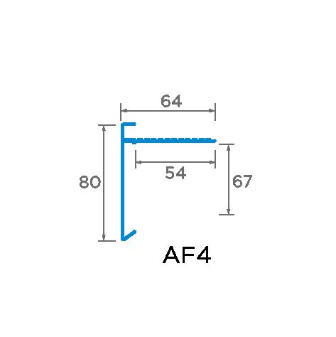 80mm aluminium Trim Drawing