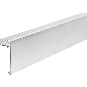 80mm face aluminium felt trim 3m Long