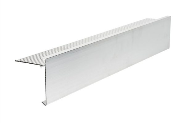 80mm face aluminium felt trim 3m Long