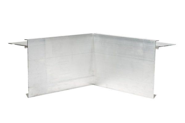 110mm aluminium felt trim internal corner