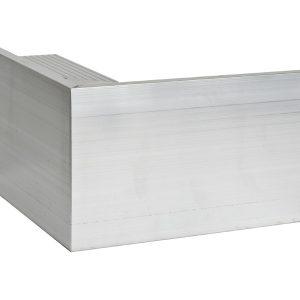 110mm aluminium trim external Corner