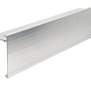 110mm face aluminium felt trim 3m Long