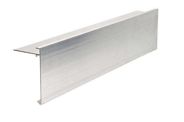 110mm face aluminium felt trim 3m Long