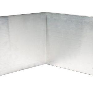 150mm Face aluminium felt trim internal corner