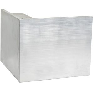 150mm aluminium felt trim external corner
