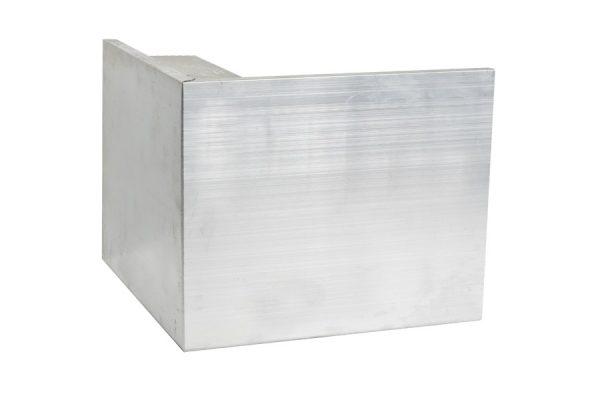 150mm aluminium felt trim external corner