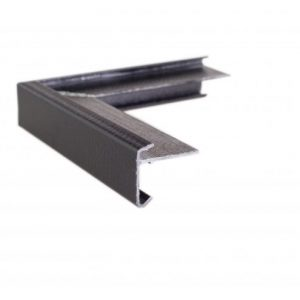 40mm Face GRP Felt trim External Corner Black
