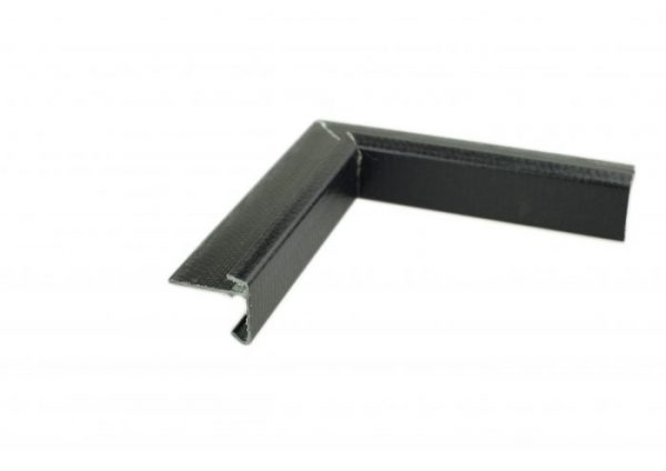 40mm Face GRP Felt trim Internal Corner Black 6282