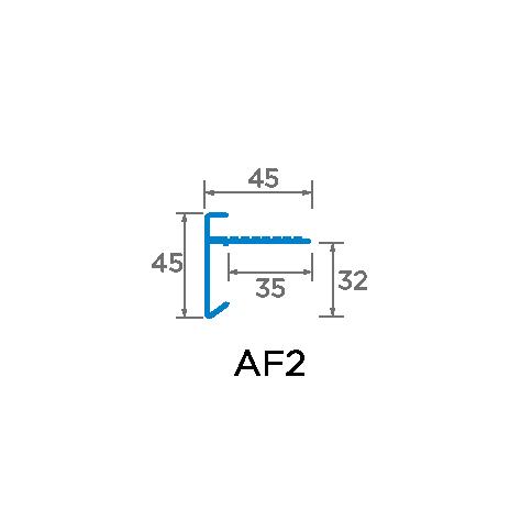 45mm Aluminium Trim Drawing