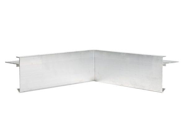 60mm Face aluminium trim internal corner