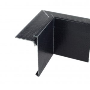 76mm Face GRP Asphalt trim Internal Corner Black