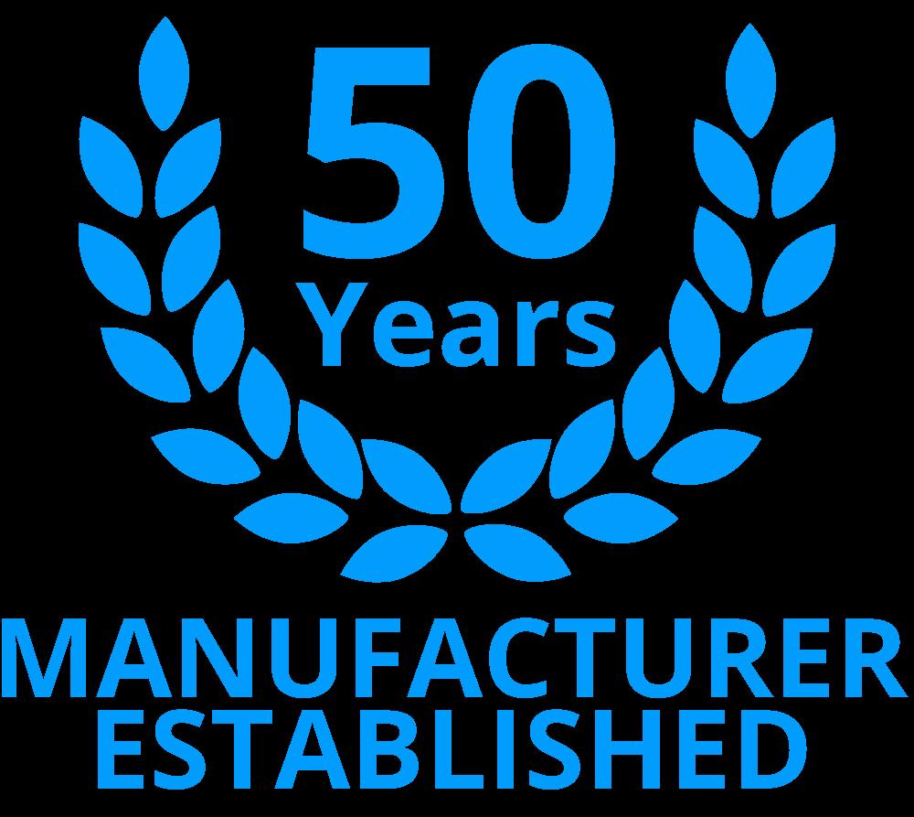 manufacturer est 50 years