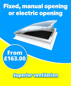 The Mardome Trade Range Rooflight has three ventilation options